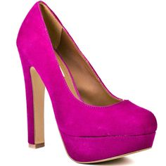 Steve Madden Beasst - Fuschia Suede ($90) ❤ liked on Polyvore