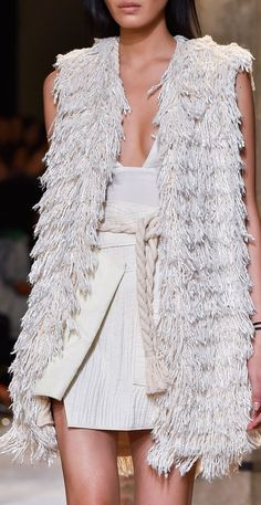 """Isabel Marant at Paris Fashion Week Spring 2015 """"And the LORD said to Moses, """"Go to the people and consecrate them today and tomorrow. Have them wash their clothes. Fashion Week, Runway Fashion, High Fashion, Fashion Show, Womens Fashion, Paris Fashion, Haute Couture Style, Isabel Marant, Fru Fru"""