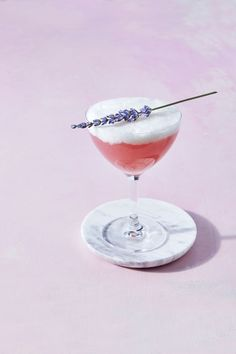 Learn how to make our Cocktail of the Month, a Lavender Pisco Sour