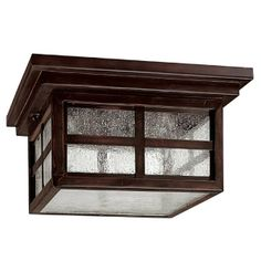 UNDER DECK ON CEILING: Capital Lighting 9917MBZ 3 Light Preston Outdoor Close to Ceiling Light, Mediterranean Bronze