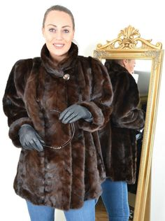US3102 BEAUTIFUL FARMER MINK FUR JACKET MINK COAT SIZE 3XL - NERZJACKE PELLICCIA #FurFashionRolfStenker #Jacket #Casual Mink Jacket, Mink Fur, Farmer, Fur Coat, Casual, Jackets, Beautiful, Fashion, Down Jackets