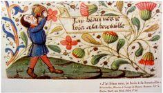 Illuminated Manuscript, Wine Drinks, Medieval, Presque Rien, Painting, France, Vegan, Simple, Wine