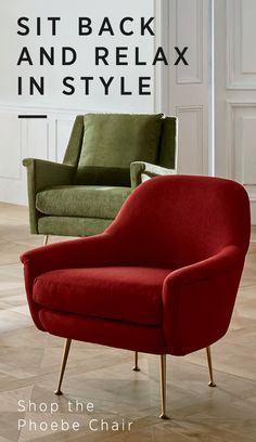 Our take on Italian mid-century design, the Phoebe Chair's soft-edged, curvy form-a rounded back and low-lying arms-lets you lounge in complete comfort, without sacrificing space. Slim, cast metal legs keep its base open and airy. Get yours today, only at west elm.