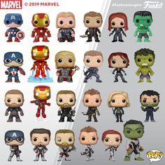 Here's a look at our Avengers Pop!s through the years! Funko Pop Marvel, Pop Figures, Vinyl Figures, Marvel Heroes, Marvel Avengers, Marvel Universe, Funko Pop Display, Funko Pop Anime, Otaku