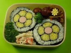 Image result for flower sushi