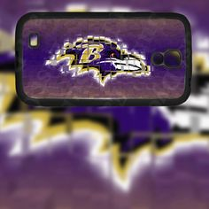 Baltimore Ravens Crest Design on Samsung Galaxy S4 Black Rubber Silicone Case by EastCoastDyeSub on Etsy https://www.etsy.com/listing/173157667/baltimore-ravens-crest-design-on-samsung