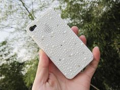 Bling Cross Crystal Sparkling iphone Case iphone 4 Pearl Cover for iPhone 5 Cystal mobile  Case for iPone 5 iphone 4/4s. $25.99, via Etsy.