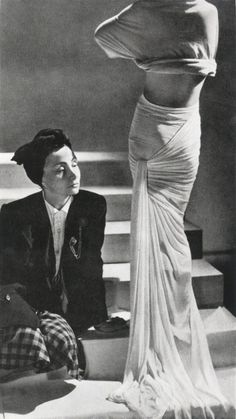 Madeline Vionnet: French fashion designer who wasn't successful until after the War in the 1920s, when she became a part of haute couture; known for her creation of the bias cut, which was a diagonal cut of fabric so that it had greater stretch and accentuated the curves of the body