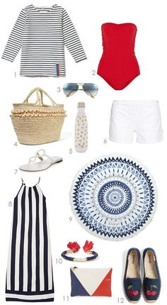 Great picks to wear for July 4th day to night at the beach