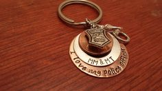 Hand stamped penny key chain with name by ByalittlebitofFaith