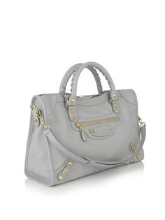 Belenciaga Giant City Gold-stud bag - Light grey.  Must have!!!