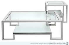 15 Awesome Designs of Stainless Steel Rectangular Coffee Tables