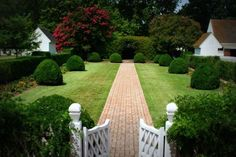 Wythe House Garden, Colonial Williamsburg, Virginia
