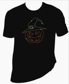 Halloween pumpkin  bling Tshirt made with rhinestones - pinned by pin4etsy.com