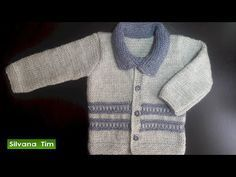 How to knit sweater for 8 to 10 years old kid Knitting Designs, Knitting Patterns, Crochet Patterns, Boys Wear, Knitting Videos, Baby Sweaters, Baby Knitting, Crochet Top, Baby Boy