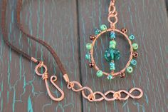 Boho+Pendant+Necklace+Copper+Wire+Wrapped+by+SusansLifeOnAWire