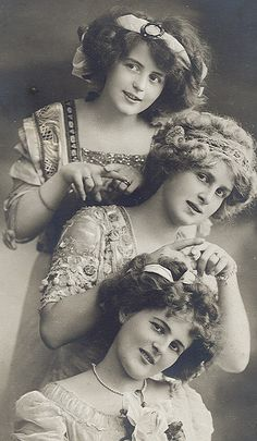 Sisters Three!  Teasing our hair to make it big enough to hide contraband!  (Cassie, cigarettes.  Beth, booze and Theresa..... the key to the front door for the Zehring boy!!)