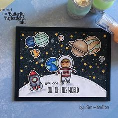 On the @butterflyreflectionsink blog today with this @lawnfawn project! Love this set :) #outofthisworld #lawnfawn #boycard