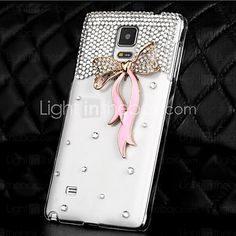 LUXURY Diamonds Crystal Silk Ribbon Back Cover Case for SAMSUNG Galaxy NOTE 4(Assorted Colors) - Galaxy Note 4, Galaxies, Samsung Galaxy, Notes, Patterns, Crystals, Diamond, Phone, Block Prints