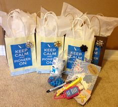 Assemble Pioneer gift bags during family worship and use that time to talk about the importance of the ministry.