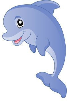 Cute Girl Dolphin Cartoon Dolphins
