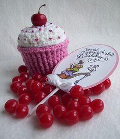 Cherry Birthday Surprise Cupcake