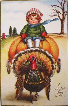 Vintage Thanksgiving Day Postcards