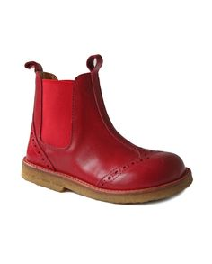Angulus Chelsea Boot in Red. I would love these in my size.