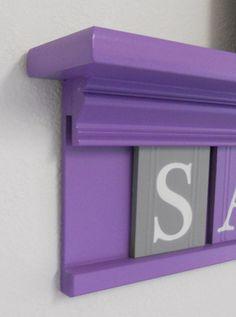 Baby Girl Nursery  Grey and Purple Nursery Decor  by NelsonsGifts