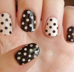 White and black dots