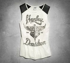Our Heart and Dagger Tank showcases one of most iconic graphics. Soft cotton/poly jersey features a unique semi-circle cutout for a pretty glimpse of your back. Contrasting shoulders and stitching add a playful edge to this lightweight women's sleeveless top.
