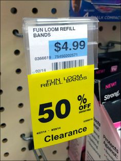 Of all items on this Flip-Front Scan Hooked display, only those Bib Tagged were sold out. Empirical proof direct from… Type Setting, Hooks, Retail, Label, Tags, Yellow, Color, Colour, Wall Hooks