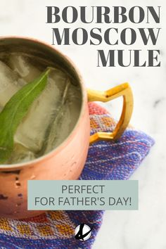 Change up the classic Moscow Mule recipe to include bourbon! This easy cocktail is refreshing and would be a great way to help celebrate Dad! Easy Cocktails, Refreshing Cocktails, Summer Drinks, Cocktail Recipes, Easy Mixed Drinks, Moscow Mule Recipe, Drinks Alcohol Recipes, Vegan Recipes Easy, Whisky