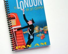 Notebook Spiral Bound London 4 x 6 by Ciaffi on Etsy, $12.50