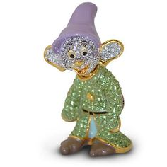 Disney Parks Limited Edition Dopey Jeweled Figurine by Arribas Brothers New with Box