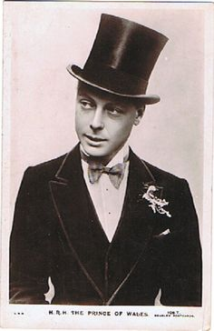 His Royal Highness, The Prince Of Wales -- briefly, King Edward VIII, and even later, the Duke of Windsor.