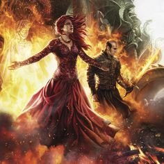 Melisandre and Stannis · Magali Villeneuve for the 2016 ASOIAF calendar