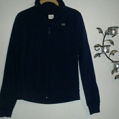 Banana Republic light jacket Color is navy.  BR initials on front of shirt in gray. Zipper in front with two side pockets. Great condition. Banana Republic Jackets & Coats