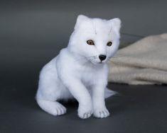 Needle felted arctic fox realistic toy | Etsy Needle Felted Animals, Needle Felting, Panda Bear, Polar Bear, A Small Orange, Arctic Fox, Hyena, Orangutan, Chipmunks