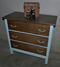 Antique maple dresser wood/paint combo