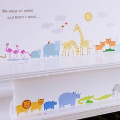 childrens safari wall stickers by kidscapes | notonthehighstreet.com