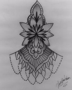 Mago Tattoo, Tattoo Femeninos, Karma Tattoo, Sternum Tattoo, Small Mandala Tattoo, Mandala Tattoo Design, Tattoo Designs, Dream Tattoos, Girl Tattoos
