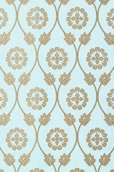 Kawazu #wallpaper in #aqua from the Shangri-La collection. #Thibaut