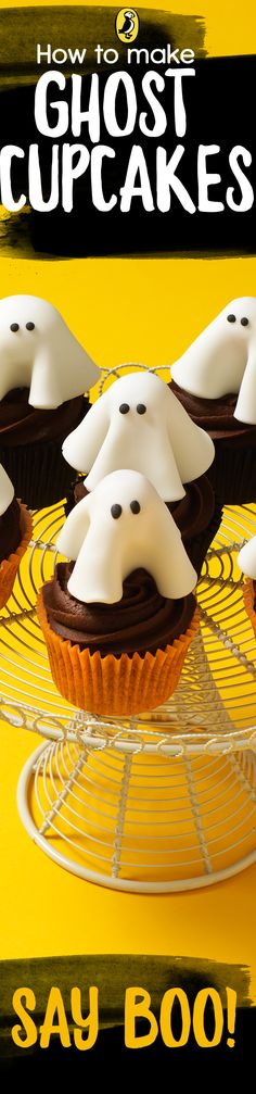 Whip up a batch of ghost cupcakes for Halloween! Our recipe shows you how to make ghostly cupcakes for your Halloween party. The recipe is inspired by the children's book Lockwood & Co The Screaming Staircase. The perfect sweet treat for a children's (grown-up) party this Halloween.