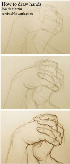 So helpful! A lesson on how to draw hands by Jon deMartin, author of Drawing Atelier: #FallowMe For more realistic drawing weekly!