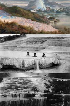 Lost to a violent volcanic eruption in the remains of the Pink and White Terraces have been discovered beneath Lake Rotomahana. Nz History, Jelly Beans, Pacific Ocean, Natural World, Continents, Genealogy, Wonders Of The World, Mermaids, Mother Nature