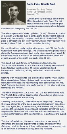 Review from: www.pennyblackmusic.co.uk