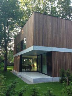 Bildergebnis für house M Modern Architecture House, Residential Architecture, Modern House Design, Architecture Details, Interior Architecture, House Cladding, Facade House, Wooden Facade, Casas Containers