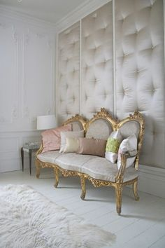 awesome tufted walls