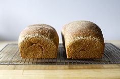 oat and wheat sandwich bread, from the oven